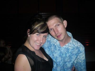Tamara McGowan and I on a night out.