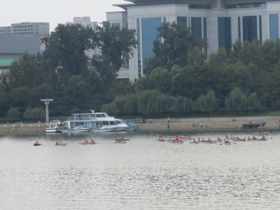 A floating restaurant in Pyongyang.