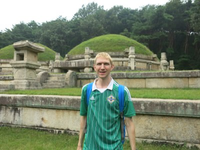 Exploring ancient Korean tombs.