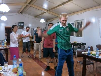 jonny blair dancing in north korea