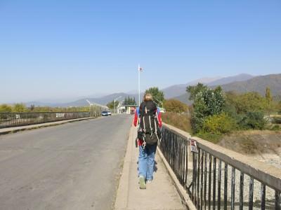 Crossing the Azerbaijan to Georgia border