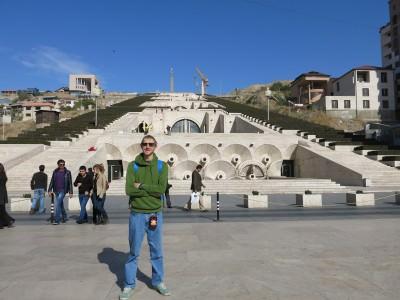 At the bottom of the Cascade, Yerevan, Armenia.