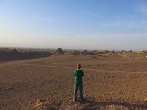 Backpacking in Iran: Sunset at the Kaluts Desert