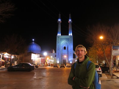 yazd jameh mosque night