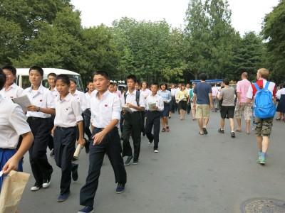 locals in pyongyang