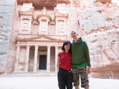 """A photo taken with our """"second camera"""", at Petra, Jordan."""