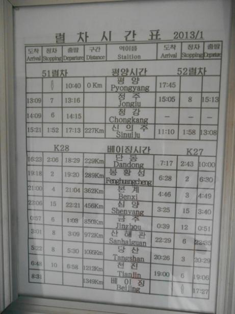 pyongyang sinuiju train