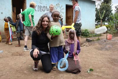 World Travellers: Annette at Kibowa Orphanage in Tanzania.