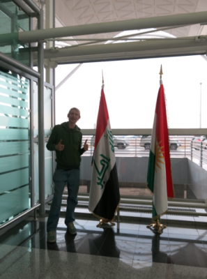 At Erbil International Airport in Iraq