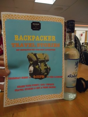 Backpacker Stories time in Jerusalem on a Thursday for a free drink!