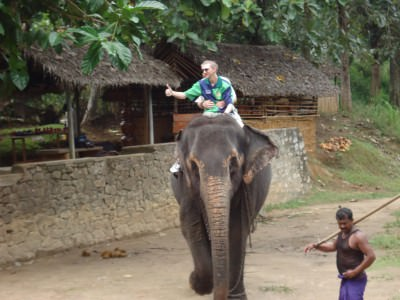 Elephant Riding in Pinnewala, Sri Lanka.
