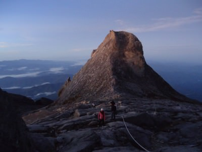 View from the peak of Mount Kinabalu