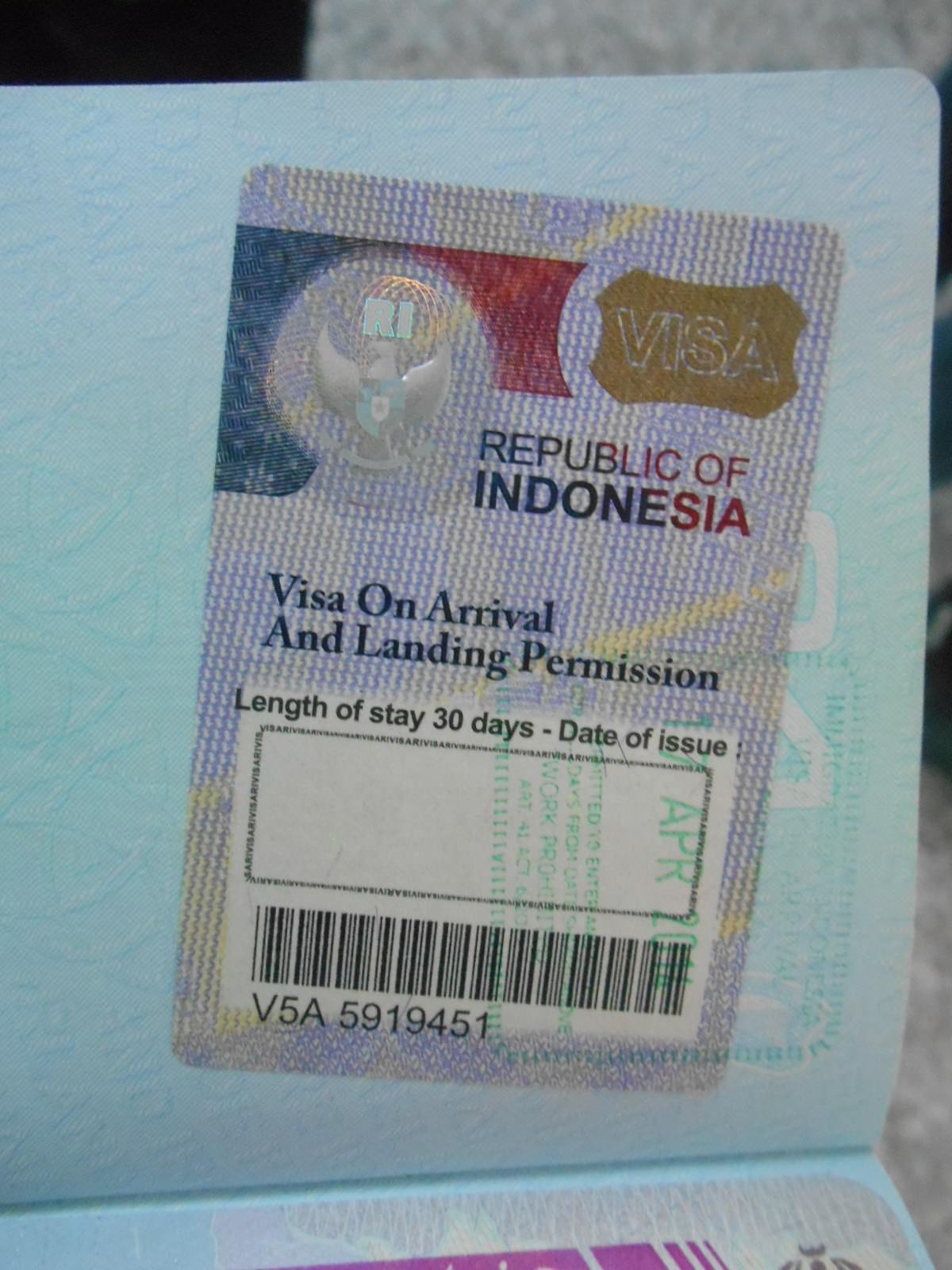 how to get an indonesian visa in bali