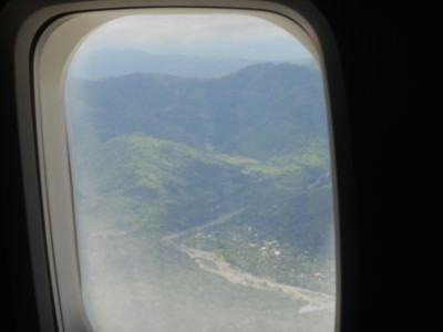Flying into Dili in East Timor.