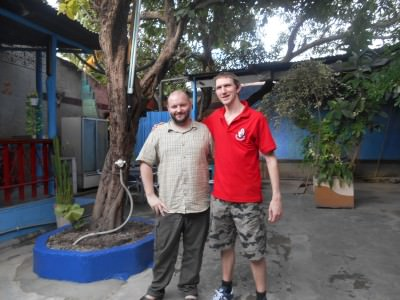 Dan and I in East Timor Backpackers.