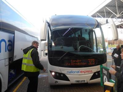 My bus to Birmingham to meet Lock In Lee