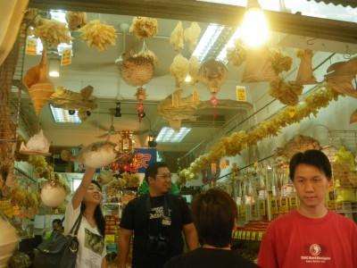 The markets of Tai O on Lantau Island.