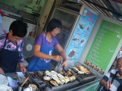 Oysters in Tai O, Hong Kong.