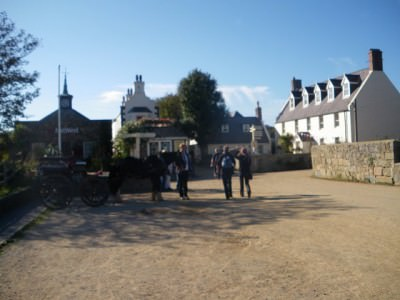 The main street on Sark - The Avenue.