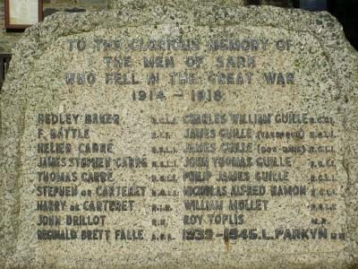 sark war memorial