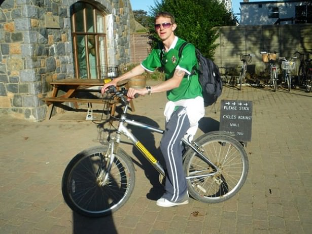 sark bicycle backpacking