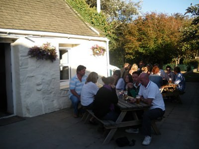 Beer Garden at the Bel Air Inn, Sark.