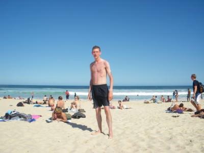 On Bondi Beach, Australia in 2009.