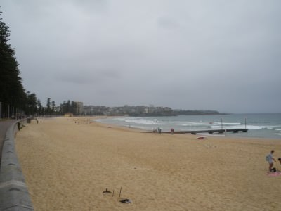 Manly beach makes the top 5 - this was a cloudy day though!