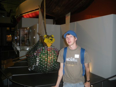 The day started as a normal backpacking one - me in the Maritime Museum in Sydney.