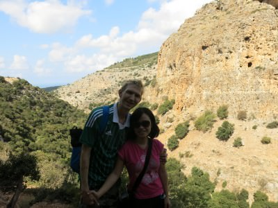 Trekking in northern Israel to the Qeshet and Tiger Caves.