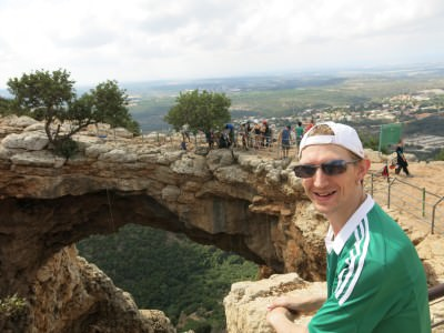 "Admiring the Qeshet ""Cave"" in Israel - more of an arch in fact ;-)"