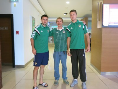 I meet Jonny Evans of Manchester United and Northern Ireland in Adana, Turkey.