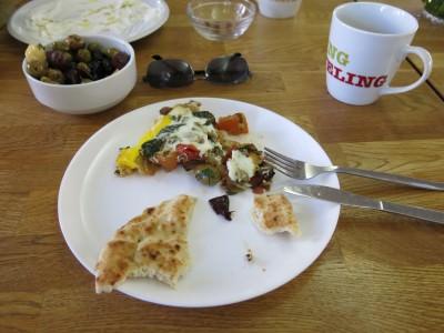 My plate - scoffing the Shakshuka.