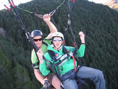 Paragliding - a novel way of getting around in Queenstown, New Zealand.