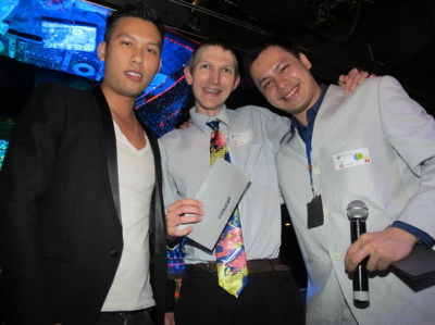With a tie on at an Internations Event in Hong Kong.