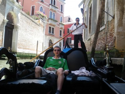 Alternative types of transport - Gondola in Venice, Italy.