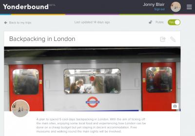 london backpacking trip