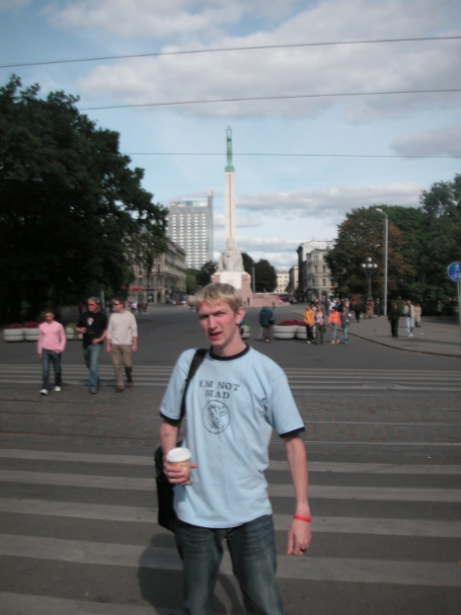 Backpacking in Riga, Latvia. Suffering from food poisoning and not impressed at all!