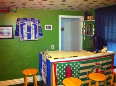 Convert one of your rooms into a Northern Irish backpacker style bar.