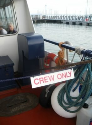 Crew only section.