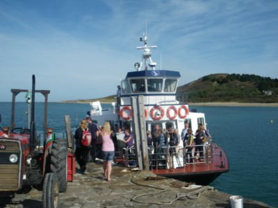 herm island ferry backpacking