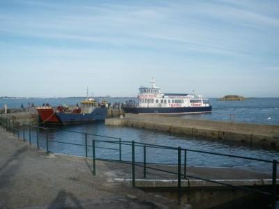 Arrival on Herm Island