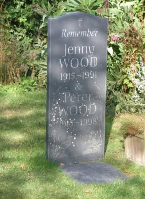 Graves of Jenny and Peter Wood on Herm Island