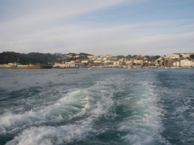 Leaving St. Peter Port Guernsey for Herm Island.