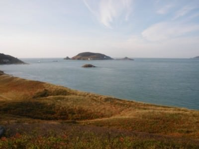 Views from the peak of Herm Island