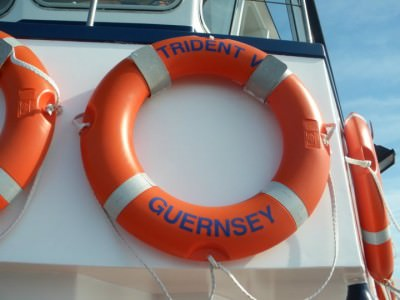 Life buoy on the Travel Trident