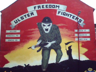 An Ulster Freedom Fighters Mural in my home country - Northern Ireland.