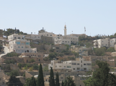 View up to the higher parts of Hebron in Palestine