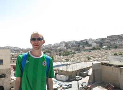 Touring Hebron in Palestine - viewing tower.