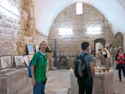 Inside the museum in Hebron, Palestine